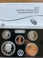 2015  UNITED STATES MINT SILVER PROOF SET