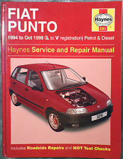 Haynes Workshop Manual Fiat Punto (petrol & diesel) from 1994 to 1999.