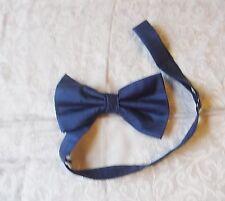 Vintage aseado Lloyd Attree & Smith Azul Tiro Seda Pajarita Azul Smart versátil