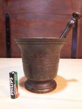 Vecchio mortaio in bronzo, farmacia