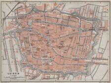 LEIDEN LEYDEN antique town city stadsplan. Netherlands kaart. BAEDEKER 1910 map