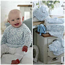 Baby Knitting Pattern Bambino Lacy Maglioni e cardigan Smarty DK King Cole 4793