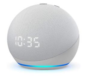 Echo Dot 4ème Génération Horloge Enceinte Connectée Alexa Assistant Vocal Blanc