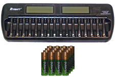 16 Bay AA / AAA LCD Charger + 16-Pack AA 2450 mAh Duracell NiMH Batteries
