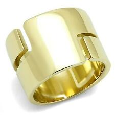 HOPE CHEST JEWELRY- WOMEN'S 15MM GOLD TONE STAINLESS STEEL WIDE BAND RING SIZE 7