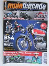 MOTO LEGENDE N° 227 /BSA A70KAWASAKI KZ 1000 S1/SUZUKI GS 850 G-YAMAHA 850 XS