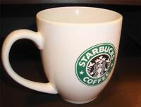 STARBUCKS CHUBBY MUG MERMAID LOGO CERAMIC RARE CUP discontinued 16oz COFFEE cup