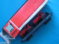 JOUEF HO Wagon plat TP avec 2 tracteurs Ref 652 Neuf Boite