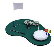 USB OPTICAL MOUSE GOLF COURT BALLS PUTTER SET DESIGN STATIONERY MOUSE PAD NEW