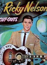 Vintage Uncut 1959 Ricky Nelson Paper Dolls~#1 Reproduction~Fantastic/No stalgic!