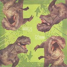 2 Serviettes papier Dinosaure Tyrannosaure Decoupage Paper Napkins Tyrannosaur