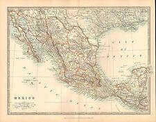 1911 grandes victorianas Mapa ~ mexico ~ la baja California Guatemala