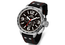 TW Steel TW11 Men's Canteen Chronograph 50mm Black Dial Leather Watch