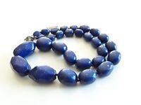 Vintage Coldwater Creek Lapis Lazuli Stone Necklace
