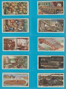 Players original cigarette cards - PRODUCTS OF THE WORLD, 1909 Full Set