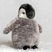 AN392 ANTARTIC EMPEROR BIRD SOFT PLUSH CUDDLY LIVING NATURE PENGUIN WITH CHICK