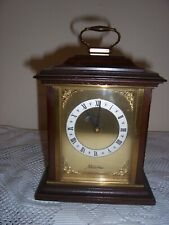 Vintage Mantle Clock mahogany brass metamec quartz bracket 99p no reserve
