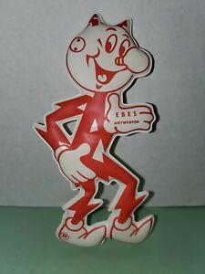 Reddy Kilowatt die cut vinyl puffy advertising/ad figure EBES Antwerpen Belgium