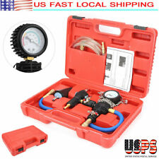 Vacuum Purge Cooling System Radiator Pressure Tester Refill Tool Kit W/Case Us