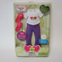 """Playmates Hearts for Hearts 14"""" Doll Clothes White Purple Outfit Fashion Set New"""