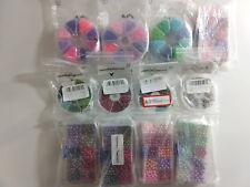 Bulk Lot Jewelery Craft Beads 2mm 4mm 6mm Mutli Colors 25+ Sets