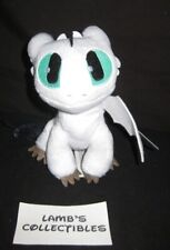 "How To Train Your Dragon 3 Green Eyes White Black 6-8"" Nightlight Plush Stuffed"