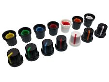 7 Colours Plastic Pot Knobs for 6mm Potentiometer / Rotary Switch / Encoder