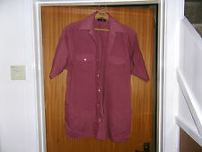 Mens Short Sleeved Terrocotta Shirt Size M by Bhs