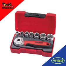 T1408 - Teng Tools - Mini Ratchet Socket Set - 8 Piece - 1/4 Inch Drive