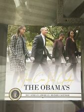 THE OBAMAS 2017 (12 month) CALENDAR w/Wristband Barack Obama Michelle Obama