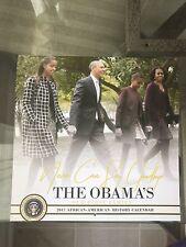 THE OBAMAS 2017 (12 month) CALENDAR w/Wristband Barack Obama Michelle Obama