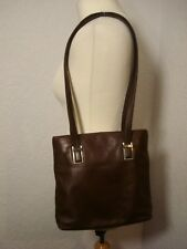 Nine West brown leather classic style shoulder hand bag