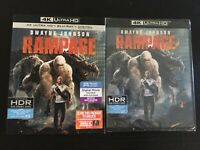 Rampage (4K UHD+Blu-ray+HD Digital)Slipcover-NEW-Free Shipping with Tracking