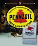 "(1) 5"" x 4"" PENNZOIL Vintage Shield Gas Vinyl Decal Lubester Oil Pump Lubster"