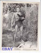 Gordon Scott barechested Tarzan's Hidden Jungle VINTAGE Photo