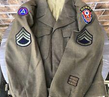 WW2 US Ike Jacket Uniform ADSEC Third Army Laundry Number