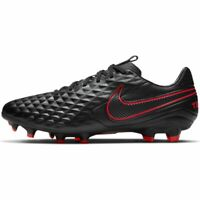 Nike Tiempo Legend 8 Pro FG Leather Soccer Cleats Black Red Men's Size 12