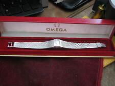 18K White Gold Swiss OMEGA Ladies Wrist Watch w/ MESH BAND & ORIGINAL BOX 1969