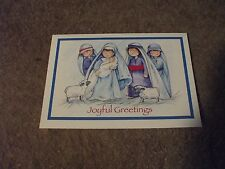 6 cute Christmas cards Mary, baby and shepherds by Gem Stone