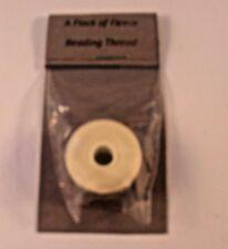 1 BOBBIN OF BEADING THREAD CREAM 0.3mm x 58.5mtrs UK SELLER FREE P&P