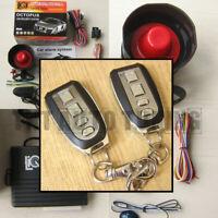 Car Alarm Anti-Theft System Remote Central Locking Kit Shock Sensor Immobiliser