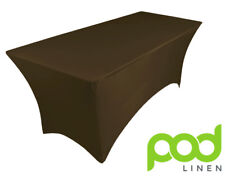 CHOCOLATE BROWN spandex lycra stretch cover tablecloth for 6ft foot table 180X75