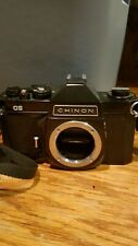 Vintage Chinon CS Black Camera Body with Strap in nice shape
