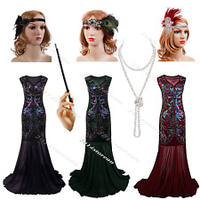 1920s Dress Vintage Flapper Gatsby Charleston Sequin Party Fancy Roaring Costume