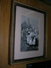 "Vintage  Neyret Freres Silk   ""The Christening""    2 3/4"" X 4 1/4"""