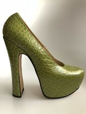 Rre Vtg Vivienne Westwood Elevated Green Mock Croc Heels 6UK