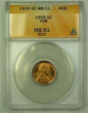 1909 VDB Lincoln Wheat Cent 1c ANACS MS-61 Red (Better Coin) (WW)