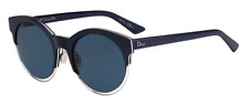 *NEW AUTHENTIC CHRISTIAN DIOR SIDERAL 1/S 0J6C BLUE PALLADIUM FRAME, KU BLUE LEN