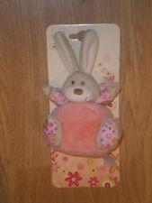 Doudou Peluche Planet Pluch Plush Lapin rabbit bunny hase grelot BOULE rose 9
