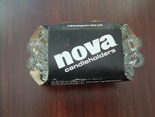 Vintage Anchor Hocking Nova  Candle holders  tri size new old stock